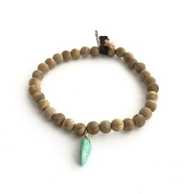 CLP - Turquoise on Sandalwood Beads