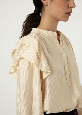 FRNCH - Charme Blouse in Creme