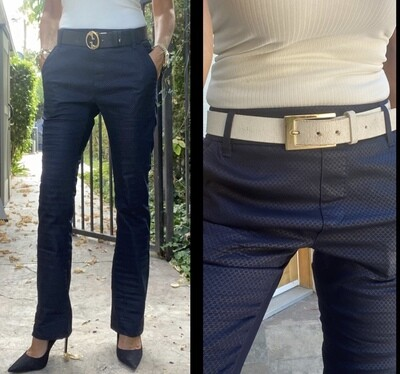 Bevy Flog - Navy Bootcut with Gray Link