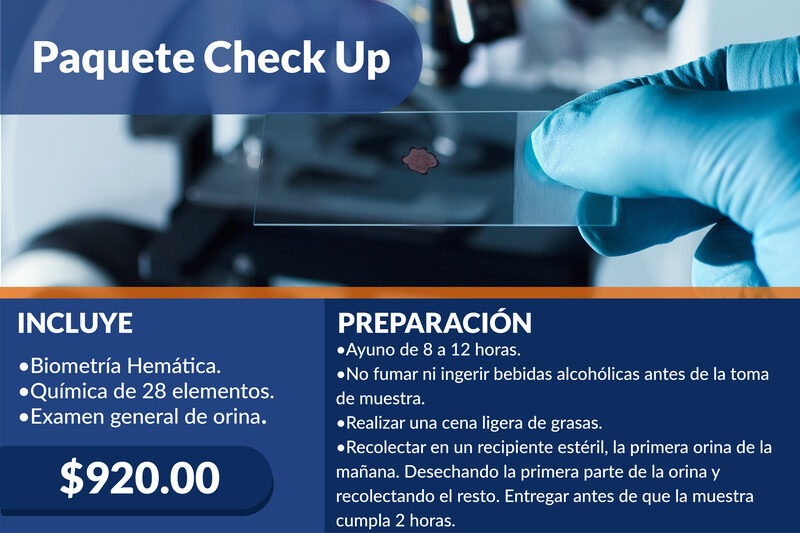 Paquete Check Up
