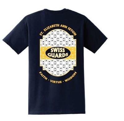 Girls Navy Lattice T-Shirt