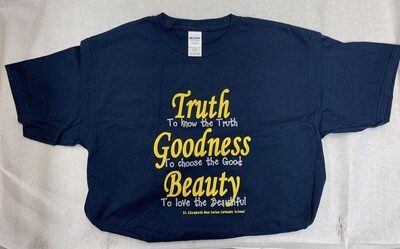 Truth, Goodness & Beauty T-shirt Navy