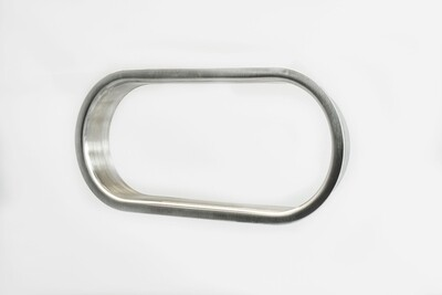 Oval Brushed Stainless  Steel Grommet
