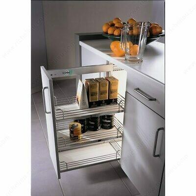 Comfort I Chrome Gray Basket Sliding System for Base Cabinets