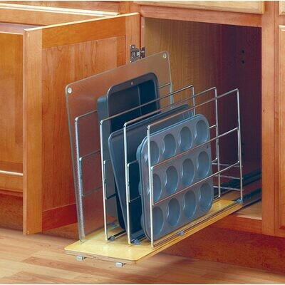 Pull Out Tray Divider - Wood Base
