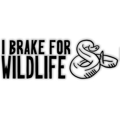 I Brake for Wildlife Vinyl Sticker
