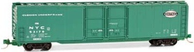 N Scale 60' Box Car with Double Plug Doors New York Central #5