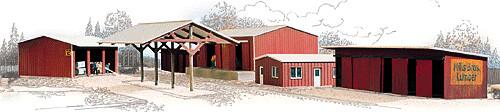 N Scale Walthers Cornerstone Mills Bros. Lumber Wholesaler