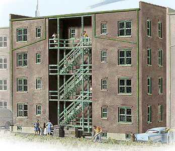 N Scale Walthers Cornerstone Parkview Terrace Tenement