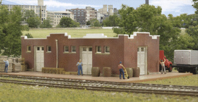 N Scale Walthers Cornerstone Santa Fe-Style Bricks Freight House