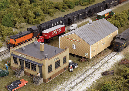 N Scale Walthers Cornerstone Yard Office & Shed