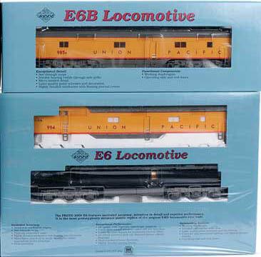 """""""HO"""" Proto 2000 E6 A+B Set Union Pacific #987/987B"""