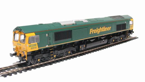 """""""HO/OO"""" Branch-line Class 66 Diesel 66610 Freightliner"""