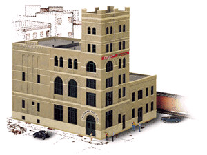 HO Scale Walthers Cornerstone Milwaukee Beer and Ale Brewery