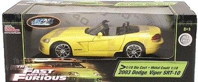 1:18 Die Cast The Fast and the Furious 2003 Dodge Viper SRT-10