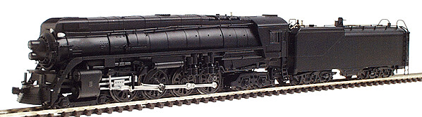 """N"" GS-4 4-8-4 Northern Steam Locomotive Undecorated Black"