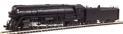 """""""N"""" GS-4 4-8-4 Northern Steam Locomotive Undecorated Black"""