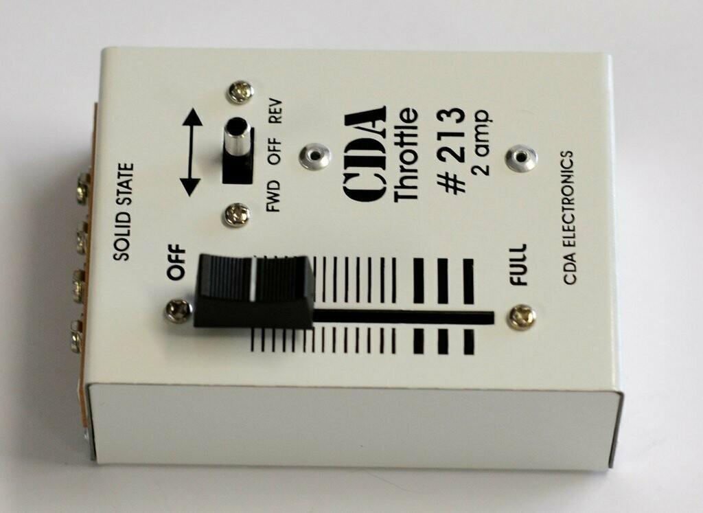 CDA #213 2 Amp DC Throttle train controller
