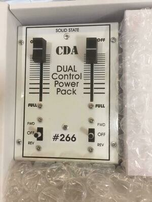 CDA #266 Dual Train Controller / Throttle Power Pack DC Transformer