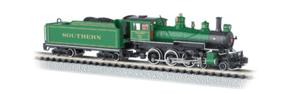 Bachmann N Scale Steam Baldwin 4-6-0, DCC on Board - Southern Green