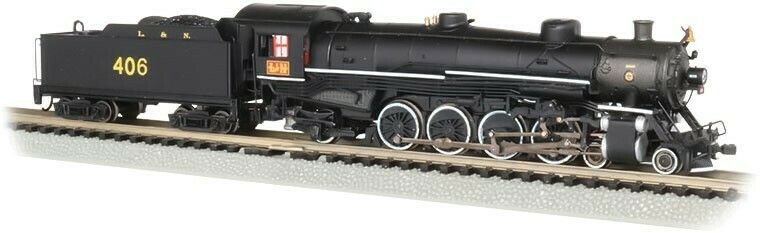 Bachmann 'N' Steam 4-8-2 DCC &  Econami Sound  L&N #406