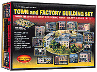 N Scale Town & Country Building Set