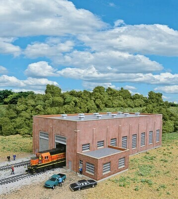 N Scale Two Stall 130' Brick Diesel House