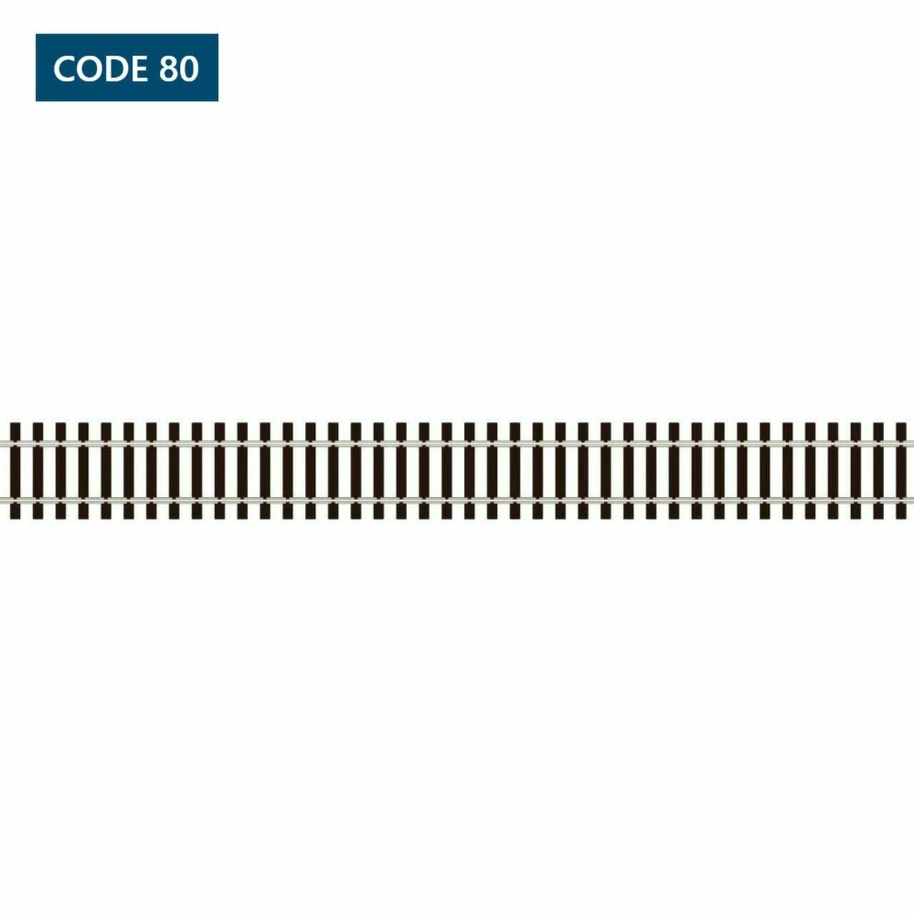 N Scale Code 80 Flex Track - Wooden Sleepers