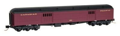 N Scale Express baggage Car - CP Maroon #4555