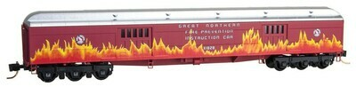 N Scale 70' Exp. Baggage GN 'Fire Prevention Instructor Car #X1828