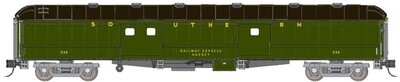 70' Hwt Baggage Car Round Roof 'Southern'  #535