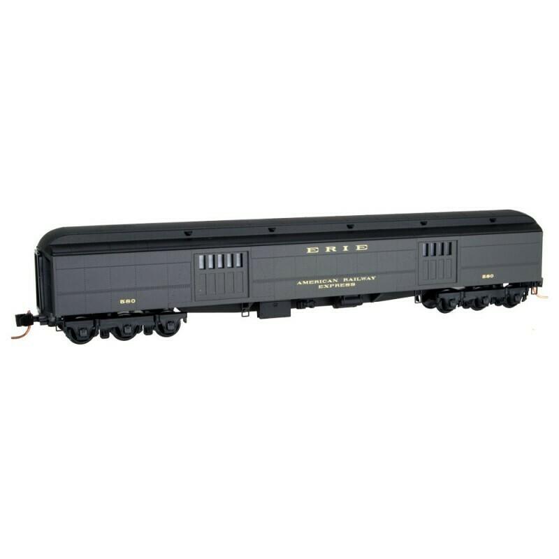N Scale 70' Express Baggage Car - Erie #580