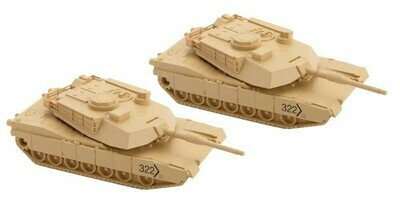 N Scale M1 Abrams Tank - 2 Pack Kit Undecorated