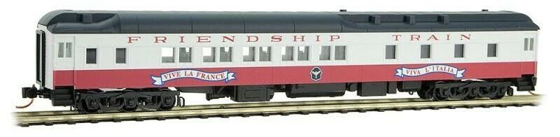 N Scale 10-1-2 Heavyweight Sleeper Car - 'Friendship Train Car #1'