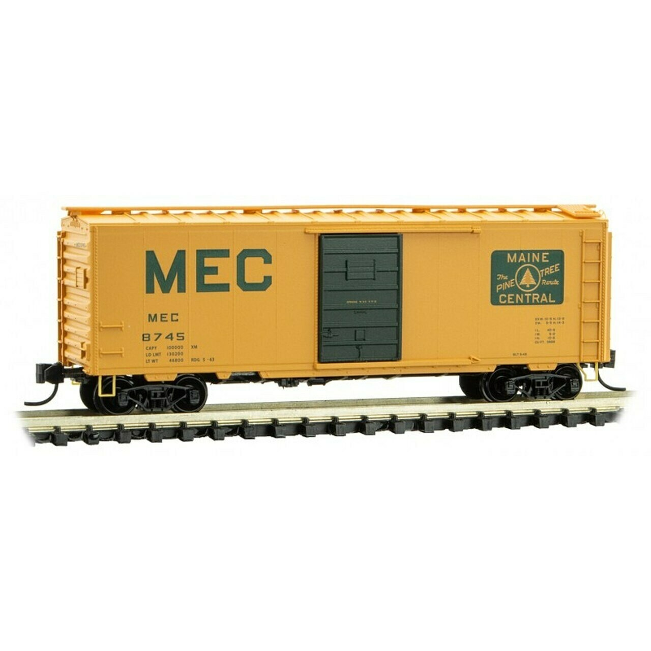N Scale 40' Standard Boxcar, single door - Maine Central #8745