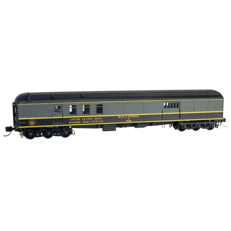 N Scale 70' Heavyweight Mail Baggage Car - Canadian National #7806