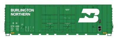 N Scale 50' Gunderson Double Door Box Car - BN #376411