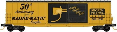 N Scale 50' Boxcar 10' door Micro-Trains Line 50th Anniversary Car