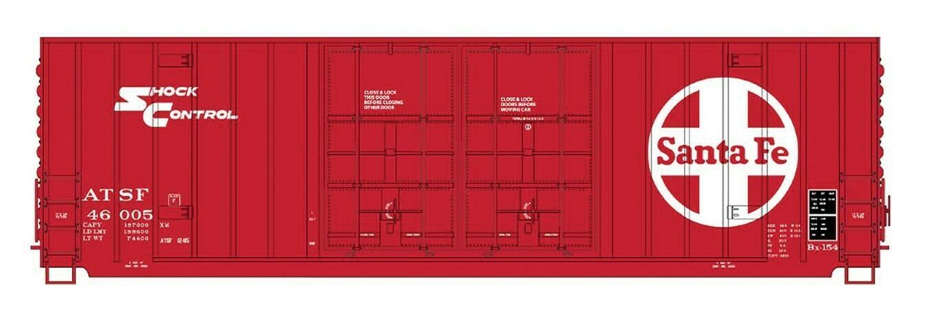 N Scale Gunderson 50' Double Door Boxcar - ATSF #46018