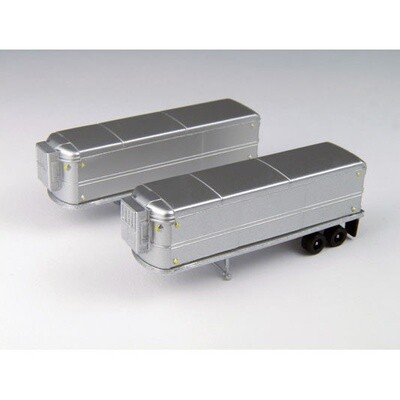 N Scale AeroVan Refrigerated Trailer Set 2 pack - Undecorated
