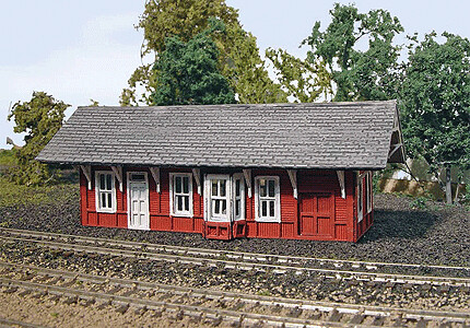 "N Scale Cannondale Train Station - 4"" X 2"" x 2"""