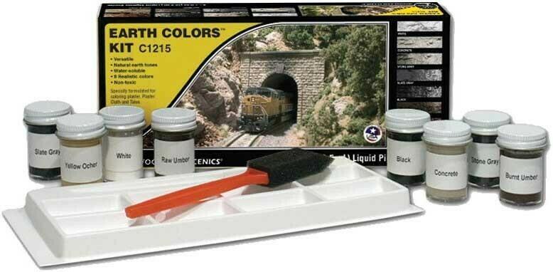 Earth Colour Kit - 8 x 1oz Liquid Pigment Bottles