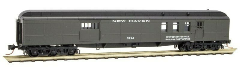 N Scale 70' Heavyweight Mail Baggage - New Haven #3294