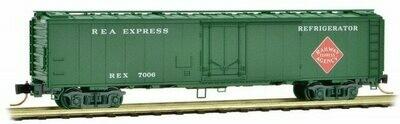 N Scale Riveted Steel Express Reefer - Plug Door   REA #REX 7006