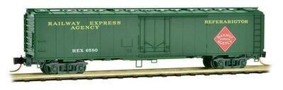 N Scale Riveted Steel Express Reefer - Plug Door   REA #REX 6580