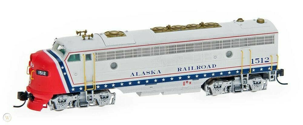 N Scale Intermountain EMD FP7A Diesel - Alaska Railroad 'Bicentennial #1512