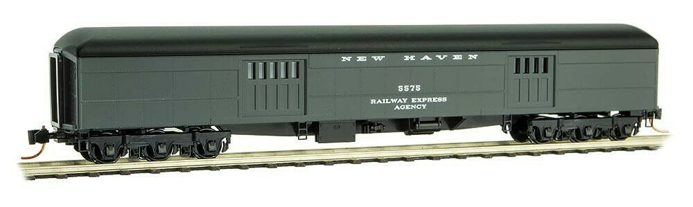 N Scale 70' Heavyweight Baggage - New Haven #5575