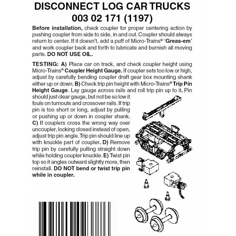 'N' Disconnect Log Car trucks