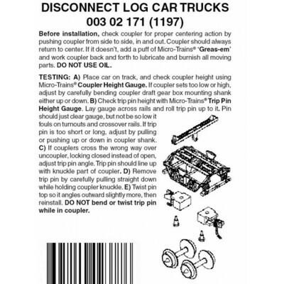 'N' Disconnect Log Car trucks