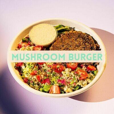 Mushroom Burger Bowl